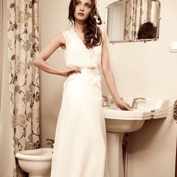Robe de mariée Elsa Gary 2013, Top Louise avec jupe Mousseline. Photo: Elsa Gary