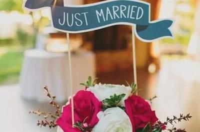 Topos para bolo de casamento: originais e personalizados