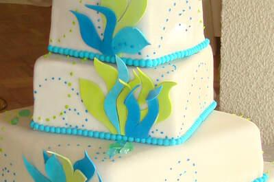 Cuando la pareja desea una linda torta de novios