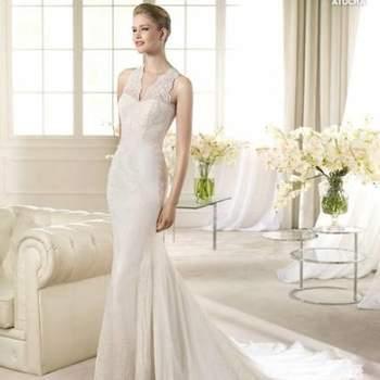 15f53166ed ... Precioso vestido de corte sirena. Foto San Patrick ...
