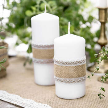 Cinta De Yute Con Encaje Blanco 5m- Compra en The Wedding Shop