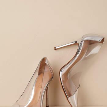 Chaussures de mariée argentées Cendi Pump, Bhldn