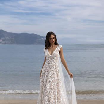 Vestido de noiva modelo Darnell da coleção Pronovias 2021 Cruise Collection