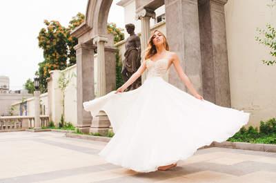 Cómo combinar tu vestido de novia con el ramo de flores ideal