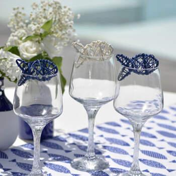 Peces en rátan azules 4 unidades- Compra en The Wedding Shop