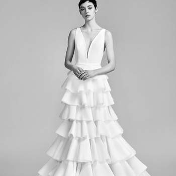 Layered couture volant tulle dream. Credits- Viktor and Rolf.
