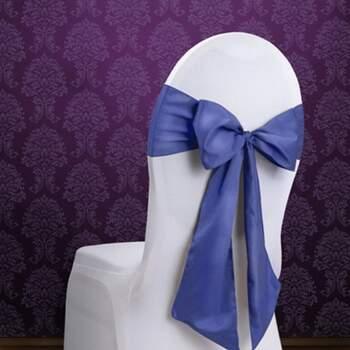 Rubans Pour Chaises Navy Blu 10 Pièces - Achetez sur The Wedding Shop !