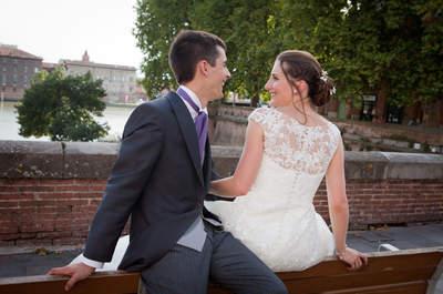 Marion et Arthur : un mariage tout en violet pour voir la vie en rose !