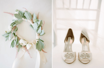 Utiliza una corona de flores para tu boda bohemia 2013