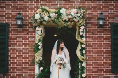 Real Wedding: La boda más inspiradora en un elegante jardín, con decoración vintage y un toque inglés