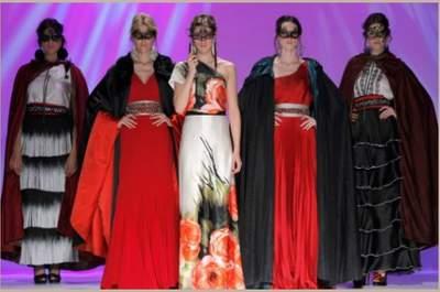 Matilde Cano, collezione abiti da cerimonia 2014, l'Andalusia al Carnevale di Venezia. Credits foto Ugo Cámara @ Barcelona Bridal Week