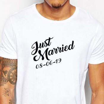 Camiseta Just Married Hombre- Compra en The Wedding Shop