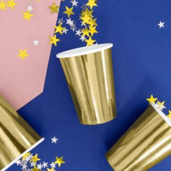 Vasos dorados metalizados 6 unidades- Compra en The Wedding Shop