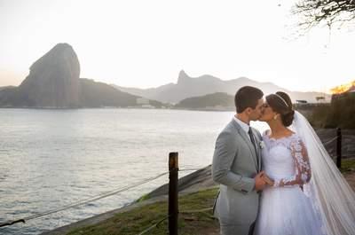 Casamento rústico provençal de Marcelle & Felipe: decoração em verde e branco deslumbrante!