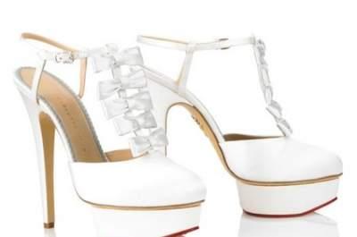 Zapatos de novia con tacón y plataforma