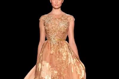 L'abito dorato di Elie Saab. Foto: eliesaab.com