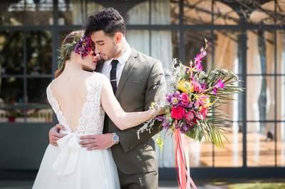 Une inspiration tropicale pour un mariage coloré et fleuri