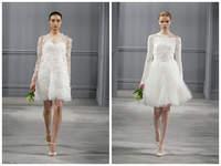Vaporosos vestidos cortos para novias modernas