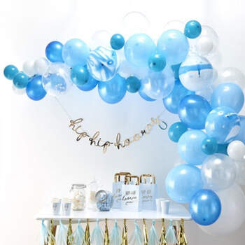 Arco de globos azul 70 unidades- Compra en The Wedding Shop
