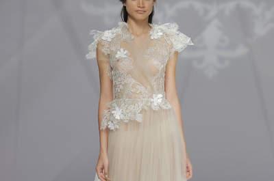 La mejor selección de vestidos de novia con escote ilusión 2017. ¡Encuentra el tuyo!