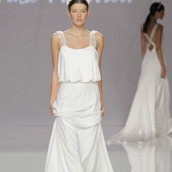 Cristina Tamborero. Credits- Barcelona Bridal Fashion Week