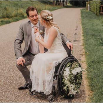 Trouwen in een rolstoel: prachtige styled shoot met als thema buitenbruiloft! | Beyoutiful Fotografie