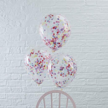 Globos de boda con papel de confeti 5 unidades- Compra en The Wedding Shop
