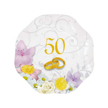 Platos 50 aniversario 10 unidades- Compra en The Wedding Shop