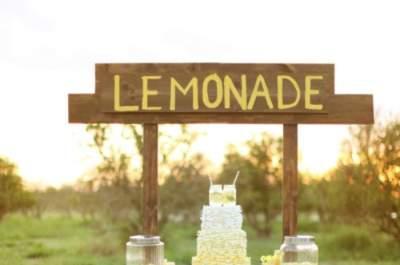 Sommerliche Desserts, Limonaden und Cocktails für Ihre Hochzeit bei heißen Temperaturen!