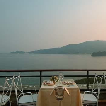 Splendido panorama dalla terrazza dell'albergo