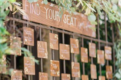 Cómo sentar a tus invitados con estilo: La tendencia de los seating charts