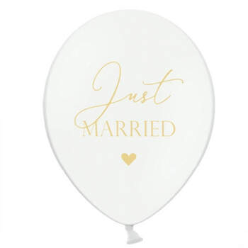Globos Just Married corazones 50 unidades- Compra en The Wedding Shop