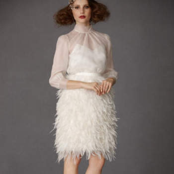 Frolicking Feathers Skirt, 850$