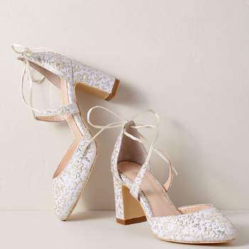 Chaussures de mariée argentées Sadie Block Heels, Bhldn