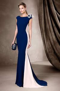 Синие вечерние платья 2017