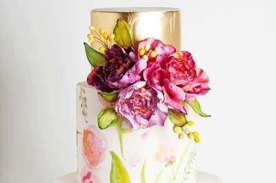 Ainda não conhece o bolo aquarela? Descubra-o logo e escolha um modelo lindíssimo para o seu casamento
