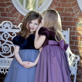 Con estos vestidos con cuerpo de terciopelo para las más pequeñas, se convertirán en las reinas de la fiesta. Foto: Óscar de la Renta.