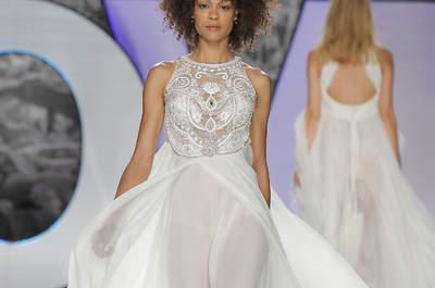 Lust auf glitzernde Momente? Brautkleider mit Strass sind absolut im Trend!