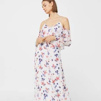 Vestido gaze floral da Mango (59,99€)