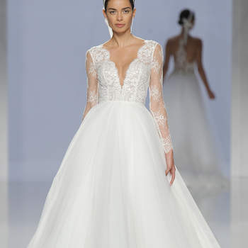 Rosa Clará. Credits: Barcelona Bridal Fashion Week.