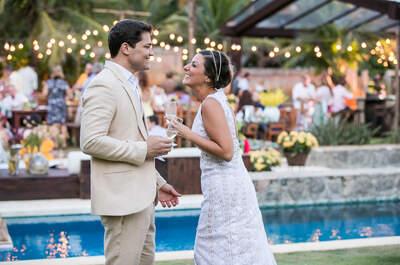 Mariana & Paulo: mini wedding à beira mar LINDO e super charmoso