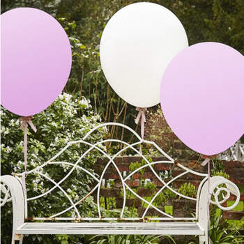 Globos XL blancos y rosas 3 unidades- Compra en The Wedding Shop