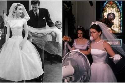 Veli da sposa a confronto: Audrey Hepburn e Julia Roberts. Foto via YouTube