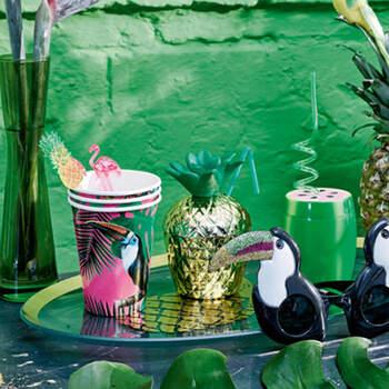 Vasos fiesta tropical 12 unidades- Compra en The Wedding Shop