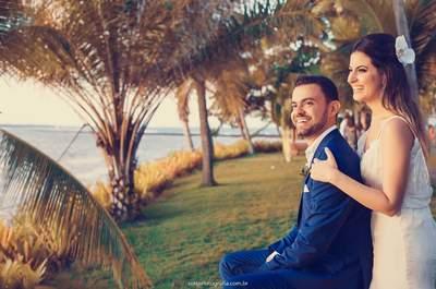 O destination wedding tropical de Mariana & Matheus: o