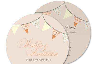Unique personalised wedding invitations from Planet Cards