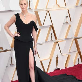 Charlize Theron en Dior. Credits: Getty Images