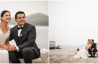 Jahir y Andrea, ¡se casaron ante la brisa del mar peruano!