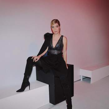 Raquel Strada vestida por Nuno Baltazar | Foto via Instagram