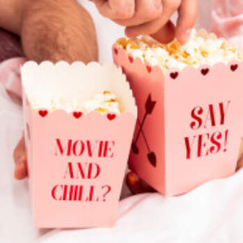 Boîte popcorn kiss love - The Wedding Shop